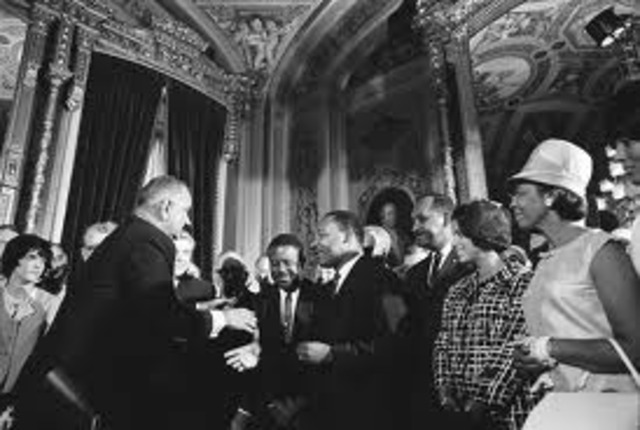 The U.S. Congress passed the first Civil Rights Act since reconstruction.