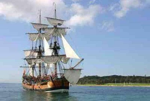 English Lieutenant James Cook's expedition in HM Bark Endeavour charts the eastern coast of Australia.