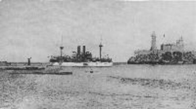 USS Maine sent to Havana