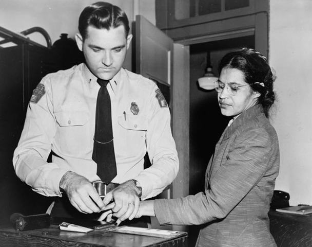 Rosa Parks Sits