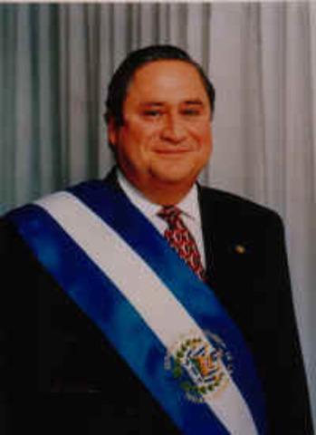 Dr. Armando Calderon Sol Presidente de la República