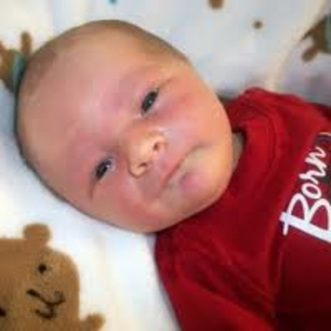 Hunter as a baby