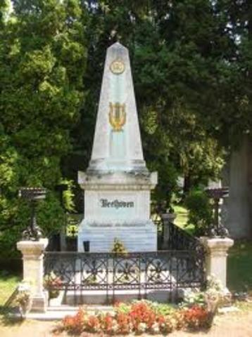 Beethoven died in 1827 mar. 27