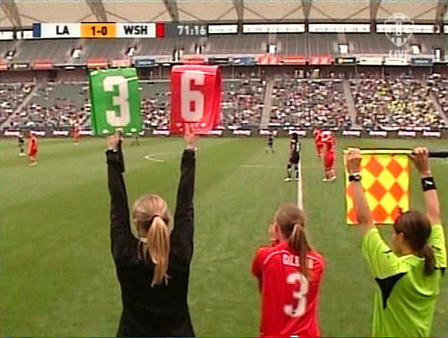 Substitutions in Soccer