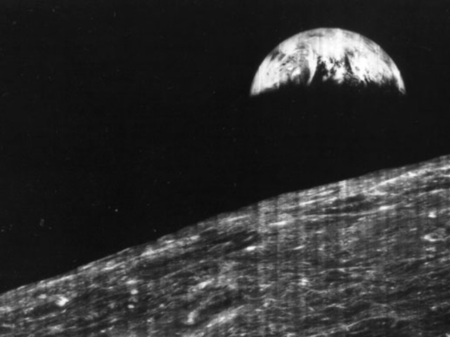 A photo from the earth taken from the moon