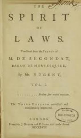 Spirit of the Laws- Montesquieu