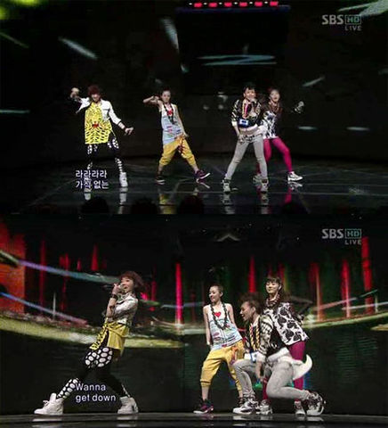 2ne1 topping the charts