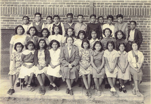 """By the 1930s, 2/3 of Mexian-American students were labeled """"mentally retarded"""" or slow."""