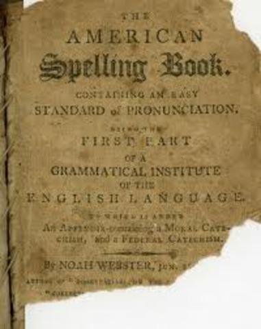 """Webster published the """"Bluebook Speller"""""""