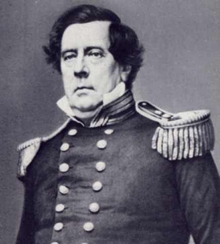 Commodore Perry sails into Tokyo Bay