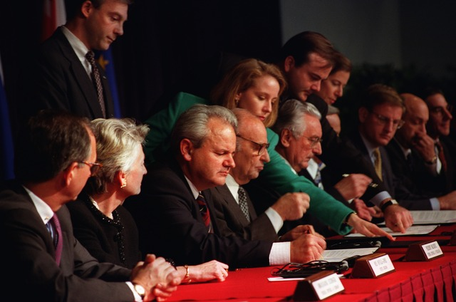 Dayton Peace Agreement is Signed