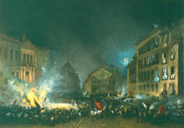 Revolución de 1854: La Vicalvarada y las sublevaciones de Julio