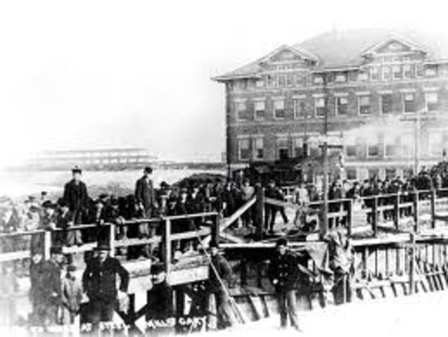 US Steel built a large steel mill at Gary, Indiana.
