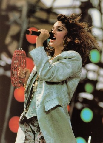 M performs at 'Live Aid'