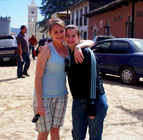 My sister and I in La Esperanza, Honduras