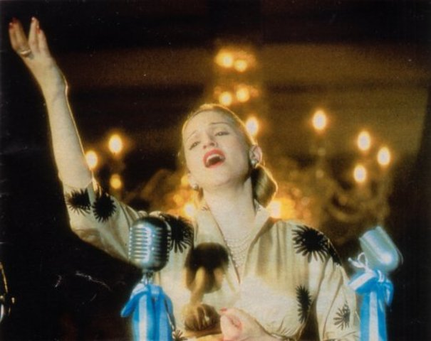 'Evita' is released, M's most succsesful fim to date