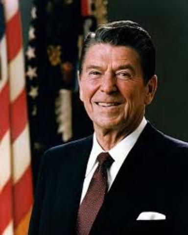 "Reagan speaks on ""learning crisis""."