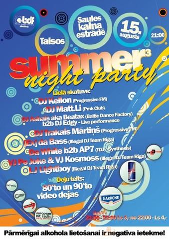 SUMMER NIGHT PARTY Talsos
