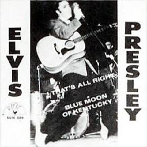 Elvis Presley's first record releases.