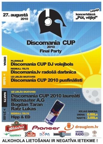 DISCOMANIA® CUP 2010 noslēguma pasākums Liepajā