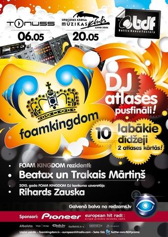 FOAM KINGDOM DJ atlases fināls Jelgavā