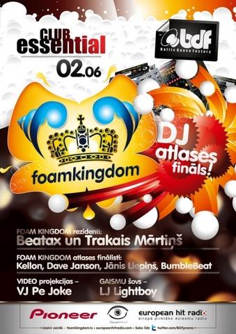 FOAM KINGDOM DJ atlases fināls Rīgā