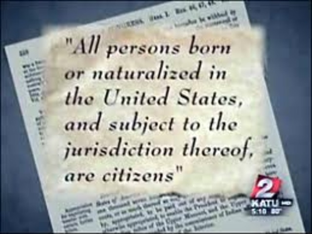 The 14th Amendment was ratified