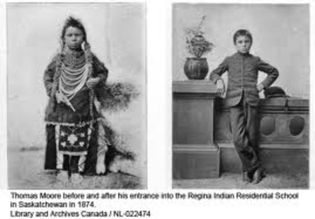 The 1st Indian boarding school opened in Carlisle, Penn.