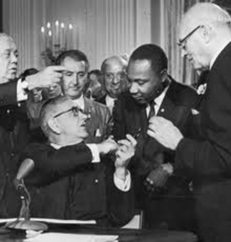 The Civil Rights Act became law.