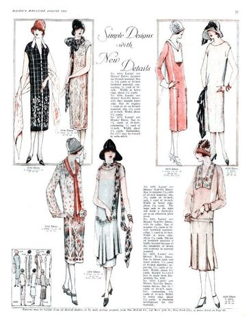 1925-Fashion was soon for everyone as people visited the movies and saw films with the latest fashion looks of the day.  Transfixed by the new and the novel in fashion, women immediately wanted those very same fashion styles, hair and make up looks.