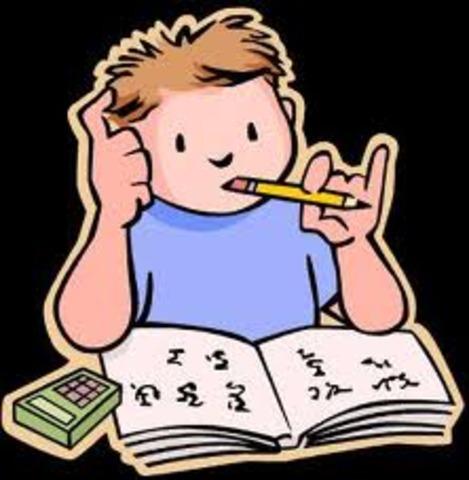 Nuestros professors a nos empezaron a dar tarea.