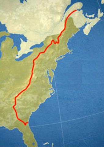 Proclamtion Line of 1763