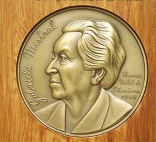 Gabriela Mistral is awarded the Nobel Prize in Literature