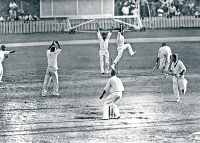 First tied cricket test.