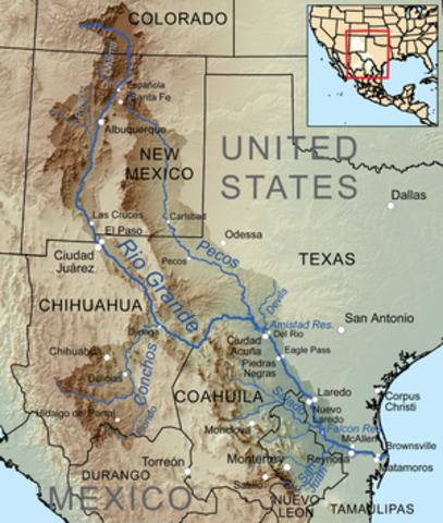 General Taylor marches troops across Rio Grande