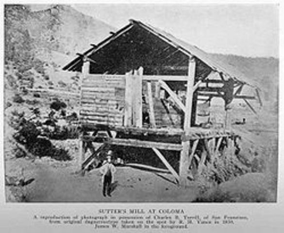 Gold discovered at Sutter's Mill, California