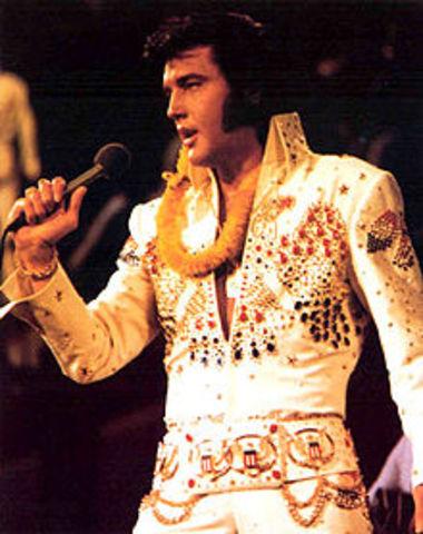 Elvis Presley releases his songs.