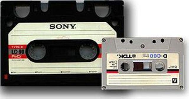 The audio cassette invented.