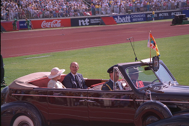 Prince Philip opens the Commonwealth Games.