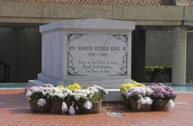 Martin Luther King Jr. dies
