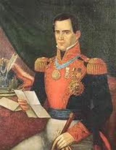 Santa Anna becomes presadent