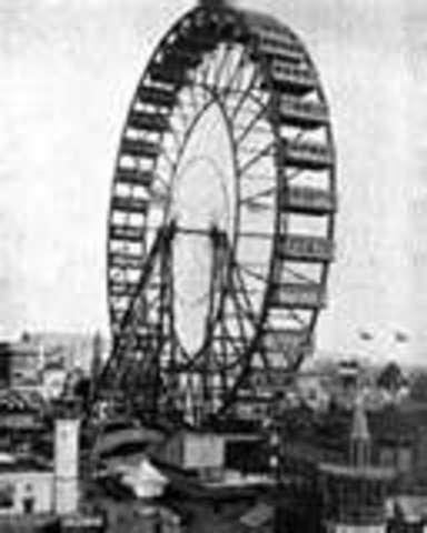 George W. Ferris created the Ferris Wheel