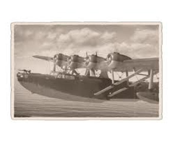 Monoplane flying boat