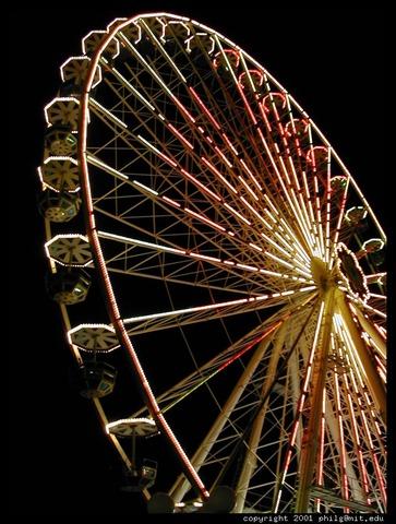 Wheels added on the ferris wheel