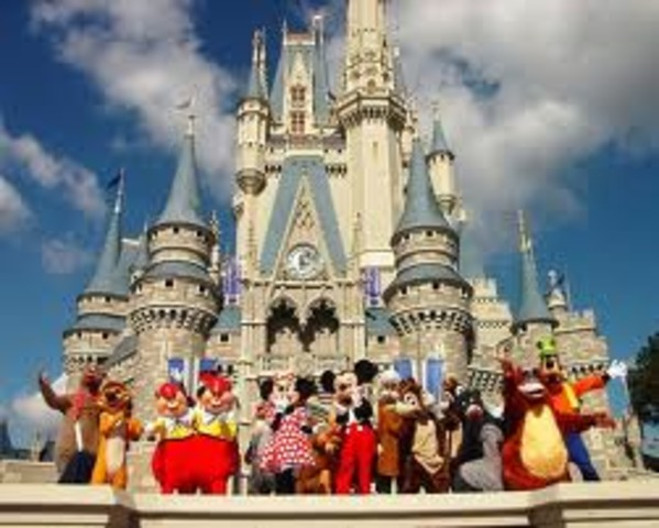 Disneyland opens becoming Walt Disney's 1st theme park