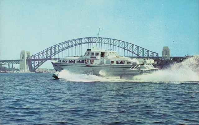 Sydney: The first hydrofoil ferry service begins