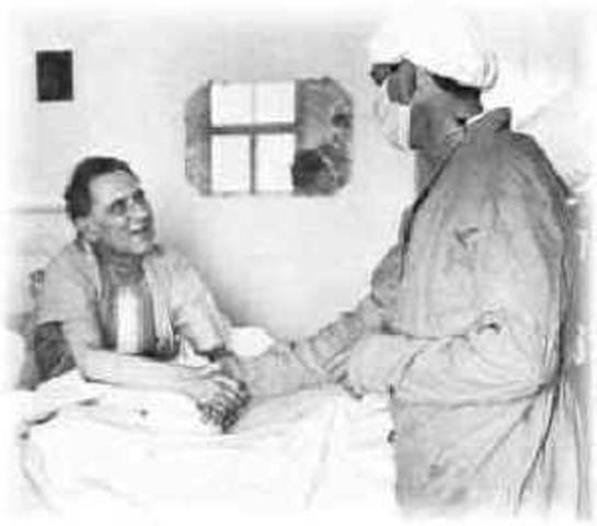 First heart transplant