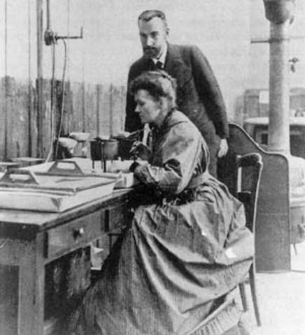 Pierre and Marie Curie discover radium