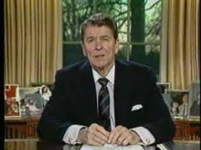 Reagan starts Legislation