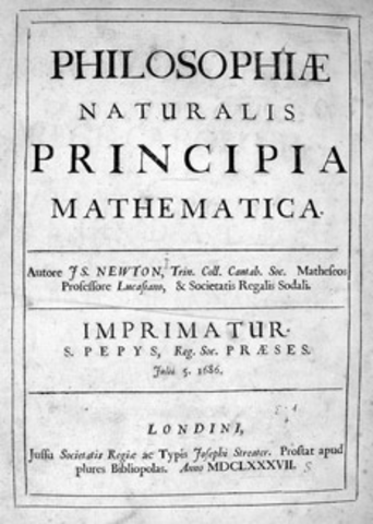 (History) Newton publishes Mathematical Principles of Natural Philosophy